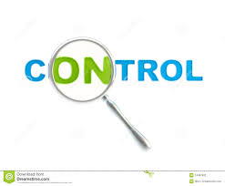 word control under the magnifier isolated stock illustration  word control under the magnifier isolated