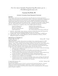 Example Engineering Resume Resume Samples For Engineers Resume Samples 20