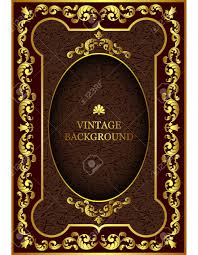 vector vector luxury vine border in the baroque style with gold fl pattern frame the template for the book cover old royal pages invitations