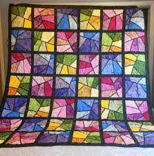 Stained Glass Quilt Pattern Fascinating Stained Glass Quilting Patterns Free Cafca Info For
