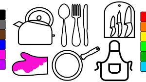 Small Picture Coloring Pictures Of Kitchen ToolsPicturesPrintable Coloring