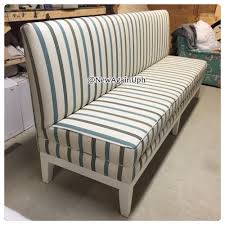 high back upholstered bench seat  bench decoration