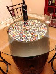 furniture: Colorful Bottle Cover For Diy Wine Barrel With Wine Side Glass  Wine Plus Simple