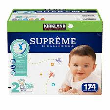 Kirkland Signature Supreme Diapers Sizes Size 2 One Box
