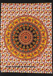 indian mandala wall hanging poster