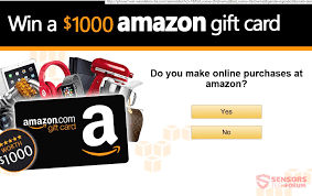 congratulations amazon user you have 1 amazon gift reserved is the message of the scam page displa on the left screenshot it is usually presented as