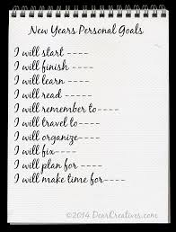 make 2014 successful personal and blog goal setting personal goals © 2014 dearcreatives com