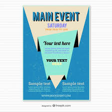 Poster Templet Blue Origami Poster Template Vector Free Vector Download In Ai