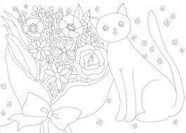 無料の印刷用ぬりえページ 一番欲しい 塗り絵 猫 キッズぬりえ