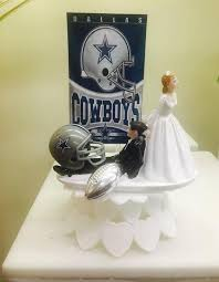 Cowboys Inspired Wedding Cake Topper Funny Bride And Groom Etsy