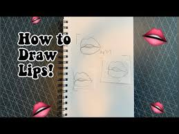 how to draw semi realistic lips how