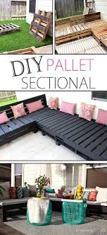 Fine Diy Patio Decorating Ideas Pallet Furniture Sectional Inside Design