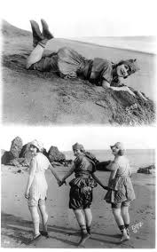 My grandmother, Edith Roberts, in a publicity shot on the beach in  California with Lillian Langston (left) and Myrtle Reeves (circa 1918)  (With images) | Silent film, Robert
