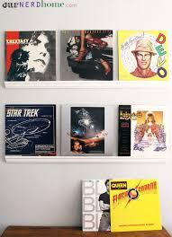 nerdy home decor diy record shelves
