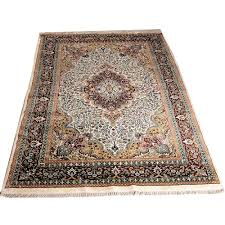 red gold white 5 7 persian hand knotted stepple gwalior rug