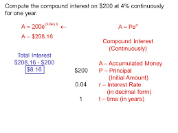 Release Of Interest Form Extraordinary Section 4444 The Number E Compound Interest Periodically A