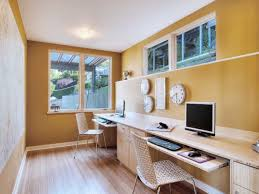 office wall colors ideas. Free Interior Secretary Desk And Narrow But Long Wooden Table Top Mixed Yellow Wall Color Also Office Colors Ideas