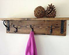 How To Mount A Coat Rack On The Wall Claremont Coat Rack w Floating Shelf Hanger hooks Rustic modern 2