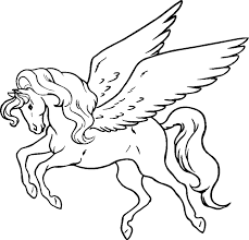 unicorn with wings coloring pages. Interesting Unicorn Pegasus Coloring Pages To Unicorn With Wings N