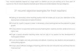 Teacher Resume Objective Stunning 5518 Resume Objective For Teachers Resume Tutorial