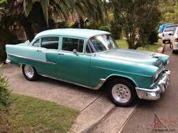 Chevy 1955 Chevrolet 55 Chev 210 4 Door Sedan Weld Wheels