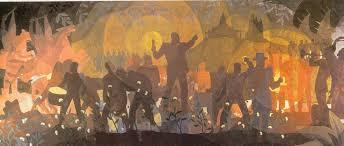 aaron douglas aspects of life from slavery to the reconstruction harlem renaissance