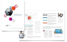 free pamphlet design online free information technology brochure template download from