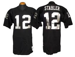 Lot - 1973-74 Oakland Stabler Home Raiders Kenny Jersey Game-used Detail
