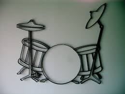 >metal wall art drum sets iron guitar wall decor giftyourguy  metal wall art drum sets iron guitar wall decor giftyourguy