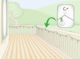 Decking That Lets Light Through 3 Simple Ways To Hang Outdoor String Lights On A Deck Wikihow