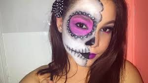 makeup tutorial half face sugar skull dia de los muertos look you