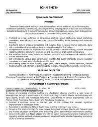 objective for a resume for customer service service operations professional