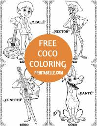 Jpg use the download button to find out the full image of coco coloring sheets download, and download it for your computer. Coco Coloring Pages Printabelle