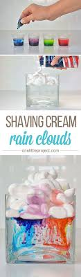 best easy science projects ideas beauty science shaving cream rain clouds