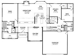 image 12195 from post traditional single story house plans with ranch style house plans also cottage plans in floor plan