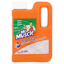 mr muscle 3in1 marble terrazzo floor cleaner with wax formulation 2 l