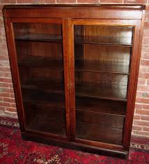 varnished wood bookcase