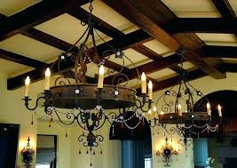 shepherds crook larger sizes wrought iron chandelier with regard to