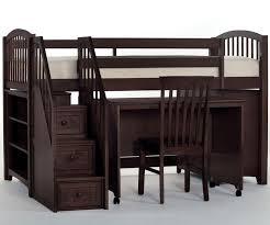 ne kids chocolate finish and study low loft bed kids playhouse bed low loft bunk