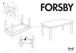 Ikea Instruction Manuals Ikea Tables Forsby Dining Table 70 7 8x39 3 8 Assembly