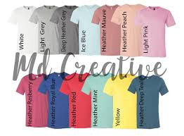 Digital File Shirt Color Chart Bella And Canvas 3001