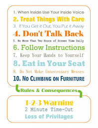 House Rules For Preschoolers Great Printable But Mine