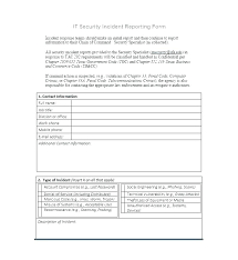 Employee Accident Report Template Accident Incident Report