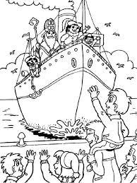 Eenvoudige Boot Sinterklaas Kleurplaat