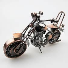 2018 vintage design motorcycle model metal motor bike toy craft