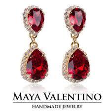 ruby earrings chandelier earrings 14k gold earrings prom jewe