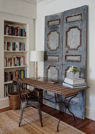vintage style shabby chic office design. Vintage Wooden Doors Bring Shabby Chic Charm To This Home Workspace [ Design: Lewis Giannoulias Vintage Style Office Design
