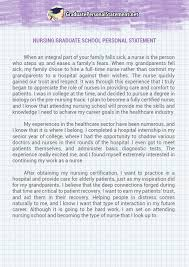nurse personal statement nursing graduate school personal statement sample nurse