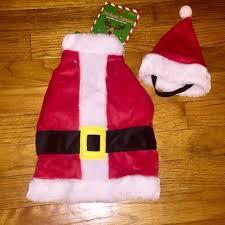 S Dog Attire Santa Fur Dress Hat Christmas Nwt Nwt