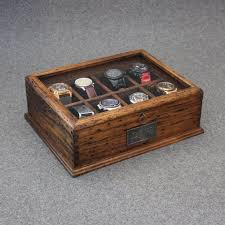25 best ideas about watch box mens watch box watch box men s watch box watch box for men wood watch box gift custom watch box for 8 watches glass top and secret compartment